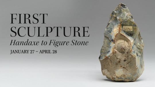 Opening of the exhibition First Sculpture: Handaxe to Figure Stone